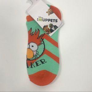 """THE MUPPETS """"Beaker"""" Footie Socks"""